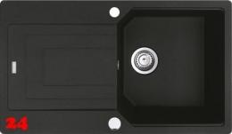 {Lager} FRANKE Küchenspüle Urban UBG 611-86 Fragranit+ Einbauspüle / Granitspüle Flächenbündig Farbe Onyx