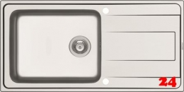 PYRAMIS Küchenspüle Alea Plus (100x50) 1B 1D Einbauspüle / Edelstahlspüle Siebkorb als Drehknopfventil