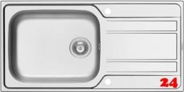 PYRAMIS Küchenspüle Athena Plus (100x50) 1B 1D Einbauspüle / Edelstahlspüle Siebkorb als Drehknopfventil