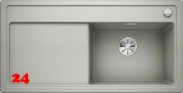BLANCO Zenar XL 6-S GSB Silgranit® PuraDur®II Granitspüle / Einbauspüle Ablaufsystem InFino mit Drehknopfventil