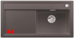 BLANCO Zenar XL 6 S-F GSB Silgranit® PuraDur®II Granitspüle Flächenbündig Ablaufsystem InFino mit Drehknopfventil