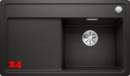 BLANCO Zenar 45-S-F GSB Silgranit® PuraDur®II Granitspüle Flächenbündig Ablaufsystem InFino mit Drehknopfventil