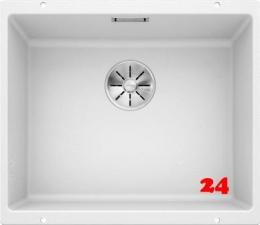 {Lager} BLANCO Subline 500-U Silgranit® PuraDur®II Granitspüle / Unterbaubecken Ablaufsystem InFino Farbe: Weiß