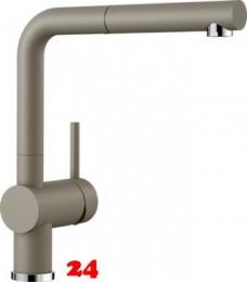 {Lager} BLANCO Küchenarmatur Linus-S Silgranit®-Look Einhebelmischer mit Zugauslauf in Farbe: Tartufo