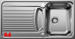 BLANCO Küchenspüle Tipo 5-S Einbauspüle / Edelstahlspüle Siebkorb als Drehknopfventil