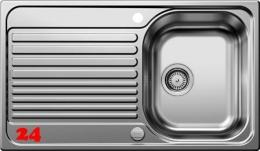 BLANCO Küchenspüle Tipo 45-S Einbauspüle / Edelstahlspüle Siebkorb als Drehknopfventil