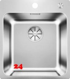 BLANCO Küchenspüle Solis 400-IF/A Edelstahlspüle / Einbauspüle Flachrand mit Ablaufsystem InFino und PushControl