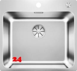 BLANCO Küchenspüle Solis 500-IF/A Edelstahlspüle / Einbauspüle Flachrand mit Ablaufsystem InFino und PushControl