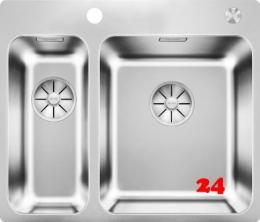 BLANCO Küchenspüle Solis 340/180-IF/A Edelstahlspüle / Einbauspüle Flachrand mit Ablaufsystem InFino und PushControl