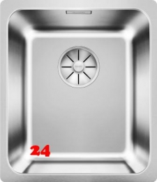 BLANCO Küchenspüle Solis 340-IF Edelstahlspüle / Einbauspüle Flachrand mit Ablaufsystem InFino und Handbetätigung