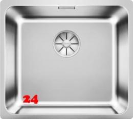 BLANCO Küchenspüle Solis 450-IF Edelstahlspüle / Einbauspüle Flachrand mit Ablaufsystem InFino und Handbetätigung