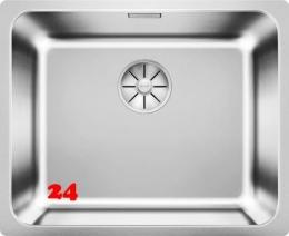 BLANCO Küchenspüle Solis 500-IF Edelstahlspüle / Einbauspüle Flachrand mit Ablaufsystem InFino und Handbetätigung