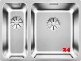 BLANCO Solis 340/180-IF Becken rechts Edelstahlspüle / Einbauspüle Flachrand mit Ablaufsystem InFino und Handbetätigung