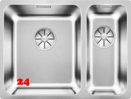 BLANCO Solis 340/180-IF Becken links Edelstahlspüle / Einbauspüle Flachrand mit Ablaufsystem InFino und Handbetätigung