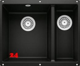 BLANCO Rotan 340/160-U Silgranit® PuraDur®II Granitspüle / Unterbaubecken in 6 Farbtönen mit Handbetätigung