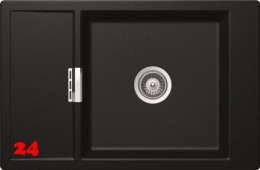 SCHOCK Küchenspüle Mono D-100XS Cristadur® Nano-Granitspüle / Einbauspüle in 9 Farben mit Funktionsgitter Edelstahl