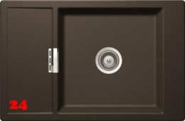 SCHOCK Küchenspüle Mono D-100XS-FB Cristadur® Nano-Granitspüle flächenbündig in 4 Farben mit Funktionsgitter Edelstahl