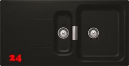 SCHOCK Küchenspüle Wembley D-150 Cristadur® Nano-Granitspüle Green Line in 2 Farben mit Drehexcenter