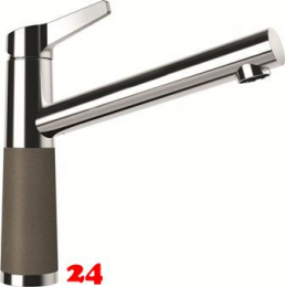 SCHOCK Küchenarmatur SC-510 Cristalite® Golden Line Einhebelmischer Festauslauf 360° schwenkbarer Auslauf mit Materialhülse in 4 Farben Niederdruck