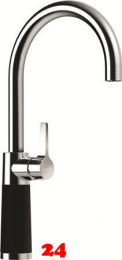SCHOCK Küchenarmatur SC-520 Cristadur® Green Line Einhebelmischer Festauslauf 360° schwenkbarer Auslauf mit Materialhülse in 2 Farben