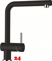 SCHOCK Küchenarmatur Epos Cristalite® Basic Line Einhebelmischer Zugauslauf 180° schwenkbarer Auslauf mit Schlauchbrause in 4 Farben