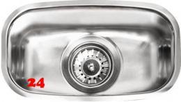 REGINOX Clean & Care L18 3016 (L) KG-CC Einbauspüle Edelstahl mit Flachrand 3 in 1 ohne Überlauf medizinischer Bereich