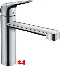 HANSGROHE Küchenarmatur Focus M42 Chrom Einhebelmischer 120 mit Festauslauf für Vorfenstermontage, 1jet (71807000)