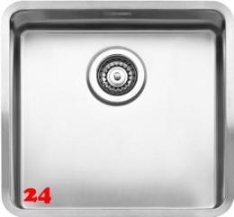 REGINOX Küchenspüle Ohio 40x40 (L) OKG Einbauspüle Edelstahl 3 in 1 mit Flachrand Siebkorb als Stopfenventil