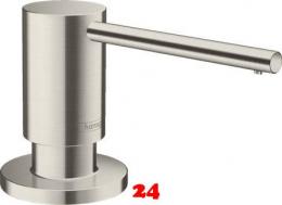 {LAGER} HANSGROHE Seifenspender A41 Spülmittelspender / Dispenser Edelstahl Finish (40438800)