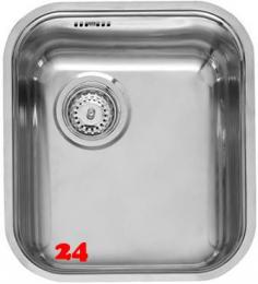 REGINOX Küchenspüle L18 4035 OKG WOKZ Einbauspüle Edelstahl 3 in 1 mit Flachrand Siebkorb als Stopfenventil