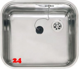REGINOX Küchenspüle L18 4035 OSK Einbauspüle Edelstahl 3 in 1 mit Flachrand mit Gummistopfen und Kette