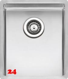 REGINOX Clean & Care New York 34x40 (L) KG-CC Einbauspüle Edelstahl mit Flachrand 3 in 1 ohne Überlauf medizinischer Bereich