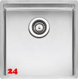 REGINOX Clean & Care New York 40x40 (L) KG-CC Einbauspüle Edelstahl mit Flachrand 3 in 1 ohne Überlauf medizinischer Bereich