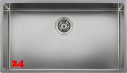 REGINOX Clean & Care New York 72x40 (L) KG-CC Einbauspüle Edelstahl mit Flachrand 3 in 1 ohne Überlauf medizinischer Bereich