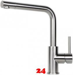 REGINOX Küchenarmatur Somo Edelstahl massiv (R34569) Einhebelmischer mit Festauslauf 360° schwenkbarer Auslauf