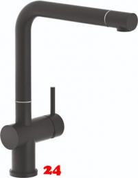REGINOX Küchenarmatur Yadkin Schwarz (R31681) Einhebelmischer mit Festauslauf 360° schwenkbarer Auslauf