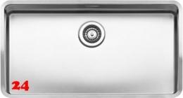 REGINOX Ohio 80x42-FL Einbauspüle Edelstahl 3 in 1 mit Flachrand Siebkorb als Stopfenventil