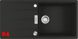 FRANKE Küchenspüle Centro CNG 611-100 Fragranit+ Einbauspüle / Granitspüle Flächenbündig mit Drehknopfventil